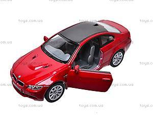 Машина инерционная BMW M3 Coupe, KT5348W, детские игрушки