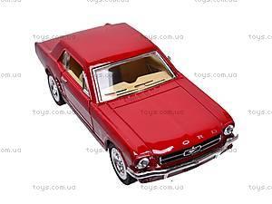 Машина инерционная Ford Mustang (1964), KT5351W, детские игрушки