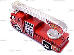Машина инерционная «Пожарная», TX5589, toys.com.ua