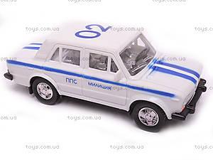 Машина инерционный ВАЗ-2106 «Милиция», 14112, фото