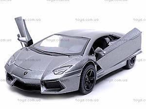 Машина металлическая Lamborghini, KT5355W, игрушки
