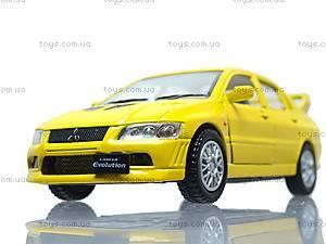 Металлическая модель машины «Mitsubishi Lancer Evolution VII», KT5052W, toys.com.ua