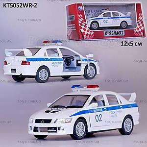 Машина Mitsubishi Lancer «Милиция», KT5052WR-2