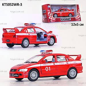Машина Mitsubishi Lancer «Пожарная», KT5052WR-3