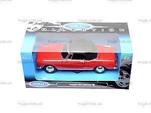Машина Peugeot 404 Cabriolet (Soft Top), 22494H-W, іграшки