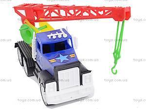 Игрушечная машина, с краном, 05-403, игрушки