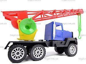 Игрушечная машина, с краном, 05-403, детские игрушки