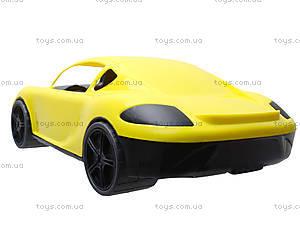 Гоночная спортивная машинка желтого цвета, 07-702, фото