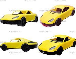 Гоночная спортивная машинка желтого цвета, 07-702
