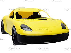 Гоночная спортивная машинка желтого цвета, 07-702, игрушки