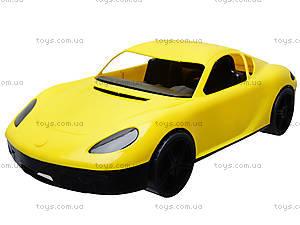 Гоночная спортивная машинка желтого цвета, 07-702, детские игрушки