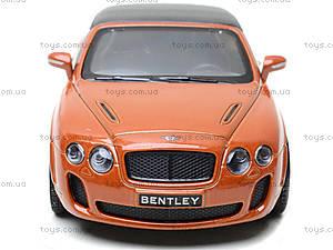 Машинка Bentley Continental, KT5353W, магазин игрушек