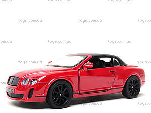 Машинка Bentley Continental, KT5353W, детский