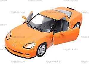 Машинка Chevrolet Corvette Z06, KT5320W, детские игрушки