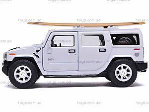 Машинка Hummer H2 с доской для серфинга, KT5337WS1, купить