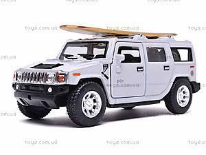 Машинка Hummer H2 с доской для серфинга, KT5337WS1