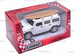 Машинка Hummer H2 с доской для серфинга, KT5337WS1, фото