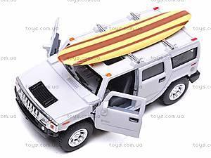 Машинка Hummer H2 с доской для серфинга, KT5337WS1, отзывы