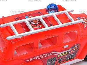 Машинка инерционная «Пожарка», 389-C12, игрушки