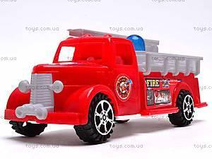 Машинка инерционная «Пожарная», 389-C11, фото