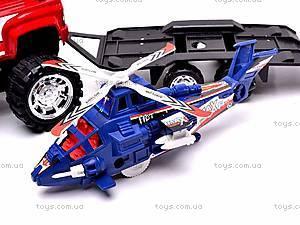 Машинка инерционная с вертолётом, 3899-42, игрушки