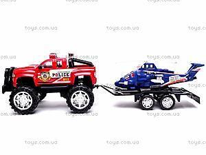 Машинка инерционная с вертолётом, 3899-42, детские игрушки