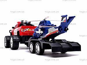 Машинка инерционная с вертолётом, 3899-42, toys.com.ua