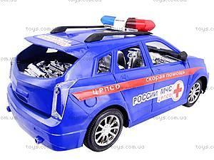 Машинка инерционная «Скорая», 566B3, игрушки