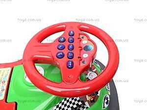 Машинка-каталка «Автошка» с интерактивным рулем, 013117/R,U/22, игрушки