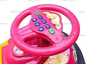 Машинка-каталка «Автошка» с музыкальным рулем, 013117R,U21, фото