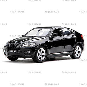 Машинка Meizhi BMW X6 металлическая (черный), MZ-25019Ab