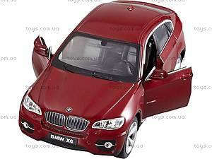 Машинка Meizhi BMW X6 металлическая (красный), MZ-25019Ar, купить