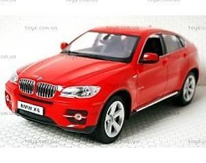 Машинка Meizhi BMW X6 металлическая (красный), MZ-25019Ar