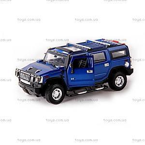 Машинка Meizhi Hummer H2 металлическая (синий), MZ-25020Ab, фото