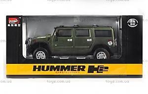 Машинка Meizhi Hummer H2 металлическая (зеленый), MZ-25020Ag, фото
