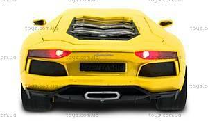 Машинка Meizhi Lamborghini металлическая (желтый), MZ-25021Ay, купить