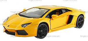 Машинка Meizhi Lamborghini металлическая (желтый), MZ-25021Ay