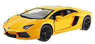 Машинка Meizhi Lamborghini металлическая (желтый), MZ-25021Ay, отзывы