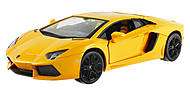 Машинка Meizhi Lamborghini металлическая (желтый), MZ-25021Ay, фото