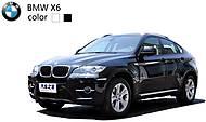 Машинка радиоуправляемая BMW X6, черный, SQW8004-X6b