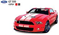 Машинка радиоуправляемая Ford GT500, красный, SQW8004-GT500r
