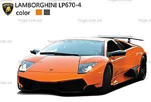 Машинка радиоуправляемая Lamborghini LP670, оранжевый, SQW8004-LP670y