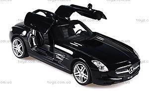Лицензионная радиоуправляемая машинка Mercedes-Benz SLS AMG, цвет черный, MZ-25046Аb, фото
