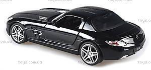 Лицензионная радиоуправляемая машинка Mercedes-Benz SLS AMG, цвет черный, MZ-25046Аb, игрушки
