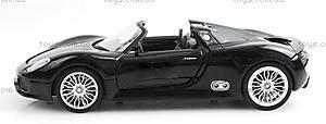 Машинка радиоуправляемая Porsche 918, черная, MZ-25045Ab, игрушки