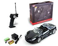 Машинка радиоуправляемая Porsche 918, черная, MZ-25045Ab