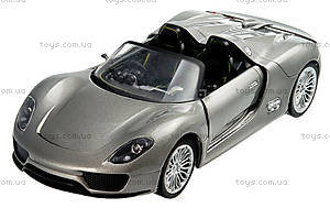 Металлическая модель на радиоуправлении Porsche 918, MZ-25045Ag, детские игрушки