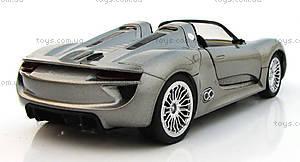 Металлическая модель на радиоуправлении Porsche 918, MZ-25045Ag, игрушки