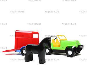 Машинка с прицепом-конюшней, 39007, купить