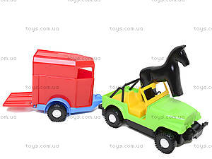 Машинка с прицепом-конюшней, 39007, игрушки